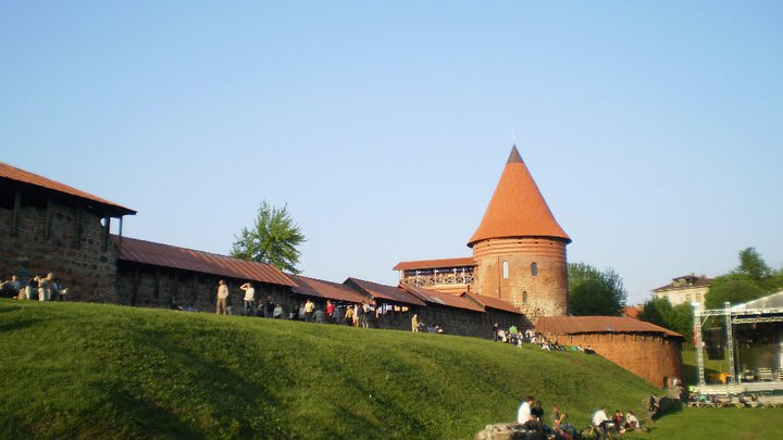 Medieval castle in Kaunas, Lithuania