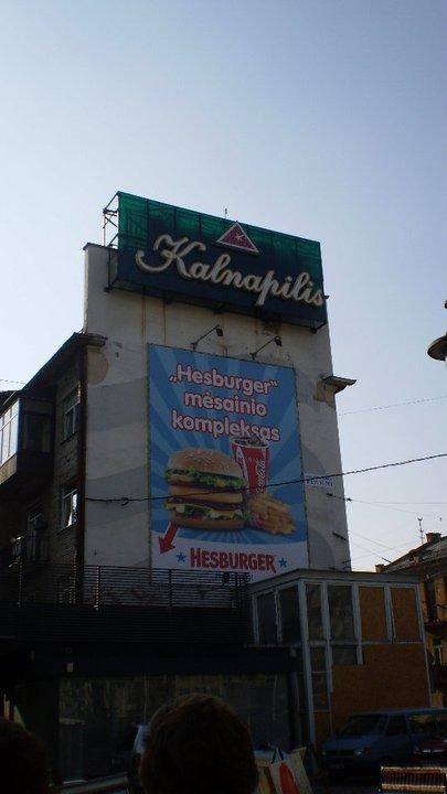 Billboard in Kaunas, Lithuania