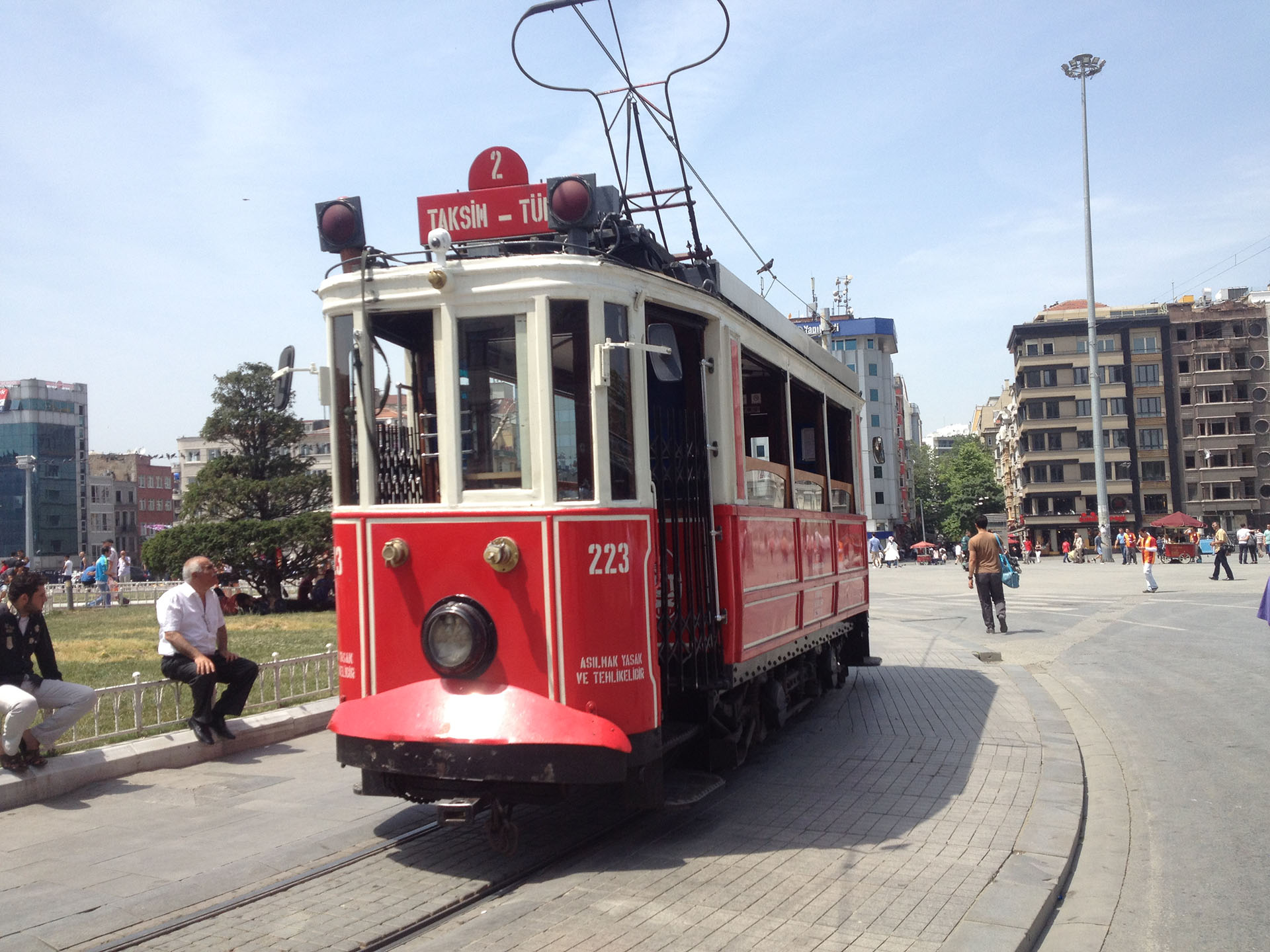 Istanbul, Turkey, Tramway Taksim Place
